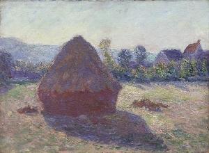 Claude Monet, Høstak i aftensol, 1891, olie på lærred, 38,5 x 52 cm, Serlachius Museums, Mänttä